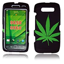 Cellularvilla Trademark for Blackberry Torch 9860 9850 Green Leaf Design Hard Phone Case Cover.