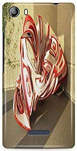 KSC Desginer Hard Back Case Cover For Micromax Selfie 3 Q348 / Q348