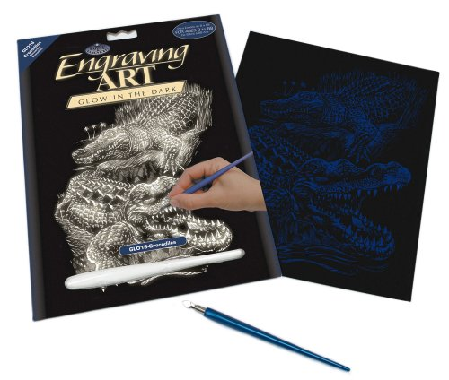 Royal and Langnickel Glow In Dark Engraving Art, Crocodile - 1