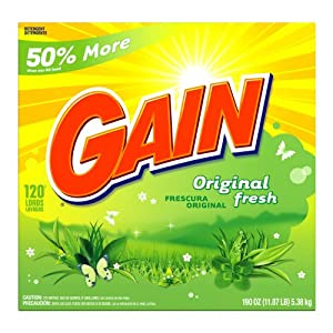Gain Powder Detergent, Original Fresh Scent, Case Pack, 120-Load Boxes (Pack of 2)