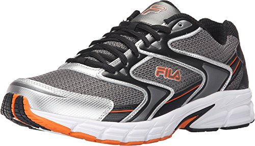Fila Men's Xtent 3 Dark Silver/Black/Vibrant Orange Sneaker 10.5 D (M)