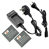 DSTE® 2pcs NB-6L Replacement Li-ion Battery + Charger DC23U for Canon NB6L, CB-2LY and Canon PowerShot SX170 IS, SX240 HS, SX260 HS, SX270 HS, SX280 HS, SX500 IS, SX510 HS, SX600 HS, D10, D20, ELPH 500 HS, S90, S95, S120, SD770 IS, SD980 IS, SD1200 IS,