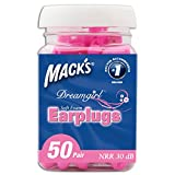 Macks Dream Girl Ear Plugs - Pink, 50 Pairs