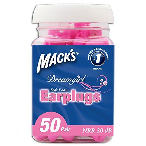 macks-dream-protezioni-auricolari-da-donna-rosa-rosa-50-paia