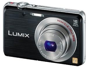 Panasonic Lumix DMC-FS45EG-K Digitalkamera (16 Megapixel, 5-fach opt. Zoom, 7 cm (2,9 Zoll) Display, 24mm Weitwinkel, HD-Video, bildstabilisiert) schwarz