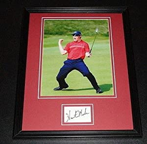 Buy Autographed Mahan Photo - Framed 11x14 Display 2008 Ryder Cup - Autographed Golf Photos by Sports Memorabilia