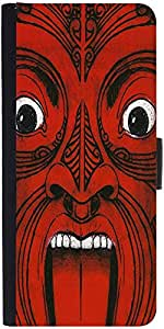 Snoogg Aztec Face Designer Protective Flip Case Cover For Samsung Galaxy A5