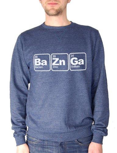 Balcony Shirts 'Ba Zn Ga' Mens Sweatshirt - Navy - Large