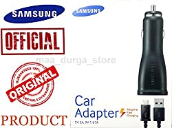 Samsung OEM Adaptive Fast Charging USB Car Charger Power Adapter with Micro USB Cable and Quick Charge 2.0 Technology for Samsung Galaxy S7, Galaxy S7 Edge (Bulk Packaging)