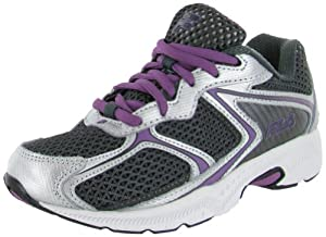 Fila Women's Simulite 2 Running Shoe,Dark Shadow/Metallic Silver/Striking Purple,10 M US