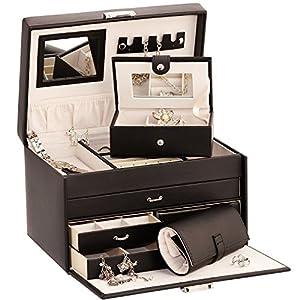 mele co scatola portagioie duchess in pelle con. Black Bedroom Furniture Sets. Home Design Ideas