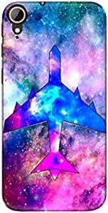 The Racoon Lean printed designer hard back mobile phone case cover for Htc Desire 830. (Airplane1)