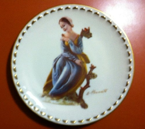 """Serenity Art Plate Produced Exclusively for A. Borsato in 1978 (8.75"""")"""