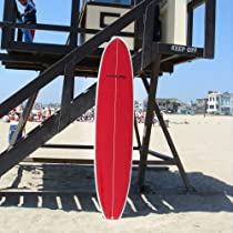 "Maverix 9' Surfboard (Red/White) w/ ""Straight to the Waves"" kit"