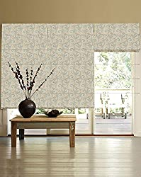 PRESTO BAZAAR 1 Piece Polyester Abstract Blind - Blue