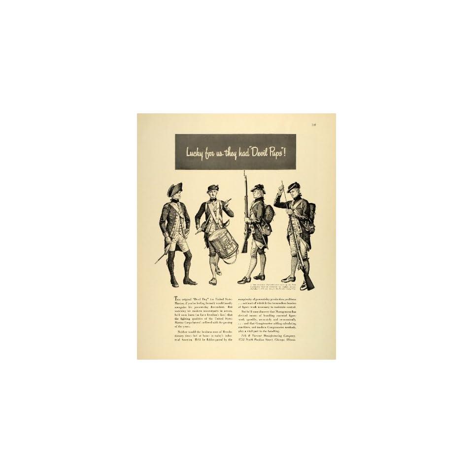 Marines Revolutionary War Uniforms Original Print Ad on