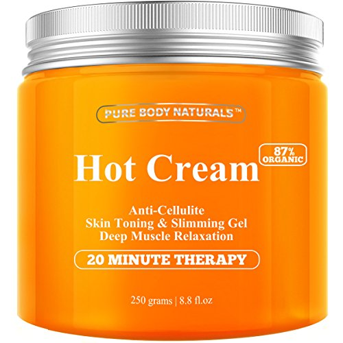 Cellulite Cream & Muscle Relaxation Pain Relief Cream Huge 8.8oz - 87% Organic Cellulite Cream Treatment Hot Gel, Firms Skin - Muscle Rub Cream, Muscle Massager, Hot Cream (Skin Tightening Cream For Stomach compare prices)