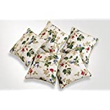 Swayam Drape And Dream Printed Cotton 5 Piece Cushion Cover Set - Beige (CC125-619 )