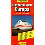 Eisenbahnkarte Europa 1 : 4 500 000. RV Euro Cart (Euro Star Map)