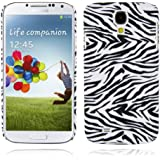 Cadorabo ! TPU Hard Cover f�r Samsung Galaxy S4 (GT-i9500 / GT-i9505 LTE) im Muster Tiger - wei�