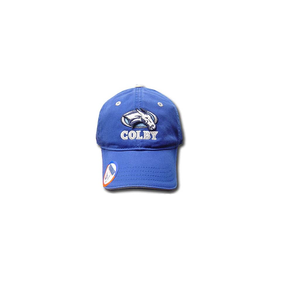 NCAA COLBY COLLEGE MULES BLUE TODDLER KID CAP HAT ADJ