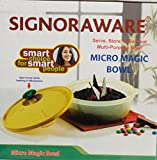 Signoraware Micro Magic Bowls | Multi-Purpose Microwave UnBreakable Bowl | Serve, Store n Re-Heat | Modern Kitchen Accessory