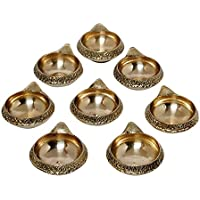 SWS Brass Kuber Diya Brass Deepak Diwali Pooja Item - Deepawali Lighting Brass Oil Diya Diwali Decoration Pooja... - B01LAU195S