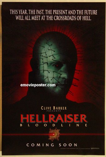 HELLRAISER BLOODLINE DS teaser one-sheet movie poster '96 Clive Barker