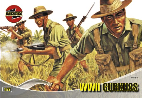 Airfix A01754 1:72 Scale Gurkhas Figures Classic Kit Series 1