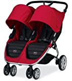Britax B-Agile Double Stroller, Red