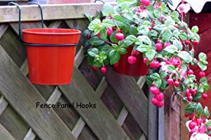 Share facebook twitter pinterest 1 new from 8 90 see all - Flower pots to hang on fence ...