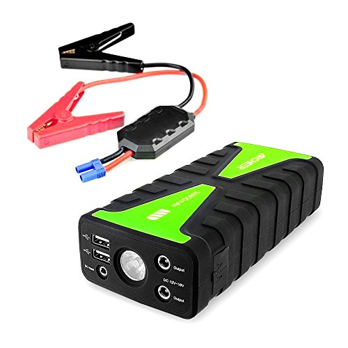 Jump Starter Archeer 800A Peak Portable Jump Starter 16800mAh Power Bank External Battery Charger With LED flashlight 2 USB Ports Booster Charger Emergency Use (Power Bank Car Battery Charger compare prices)
