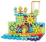 81 Piece Funny Bricks Gear Building Toy Set - Interlocking Learning Blocks - Motorized Spinning Gears
