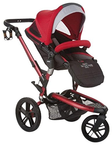 Jane Trider Extreme All-Terrain Stroller - Deep Red - 1