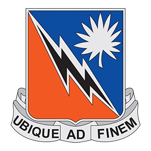 US Army - 151st Signal Battalion DUI Reflective Decal - Five Inch Wide Full Color Decal On 3M Reflective Material