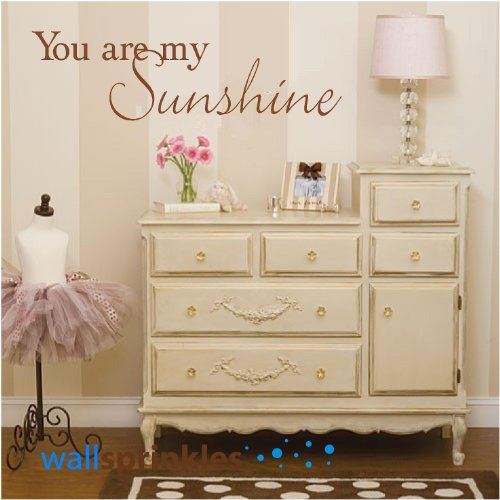 You Are My Sunshine Vinyl Wall Quotes Love Sayings Home Art Decor Decals front-985167