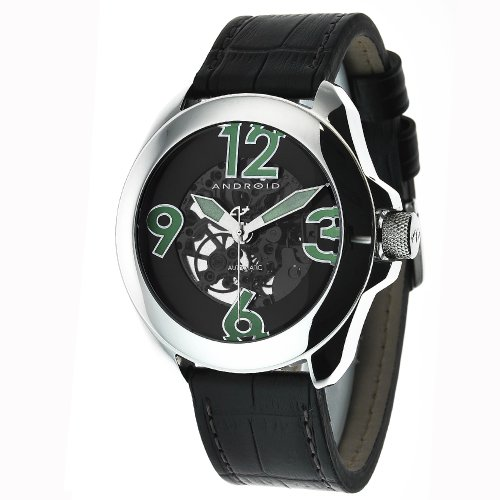Android Men's AD478AK Concept T 2 Skeleton Automatic Black Domed Crystal Watch