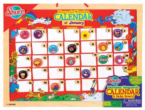 Shure - Wooden Magnetic Calendar and Note Pad - Buy Shure - Wooden Magnetic Calendar and Note Pad - Purchase Shure - Wooden Magnetic Calendar and Note Pad (Shure, Toys & Games,Categories)