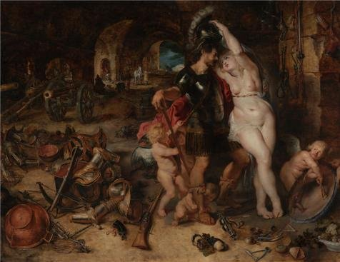 oil-painting-the-return-from-war-mars-disarmed-by-venus-about-1610-1612-by-peter-paul-rubens-printin