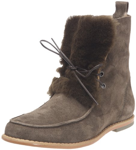 Emu Women's Harvey Olive Lace Ups Boots W10495