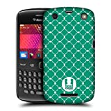 Head Case Emerald Quatrefoil Pattern Back Case Cover For Blackberry Curve 9360