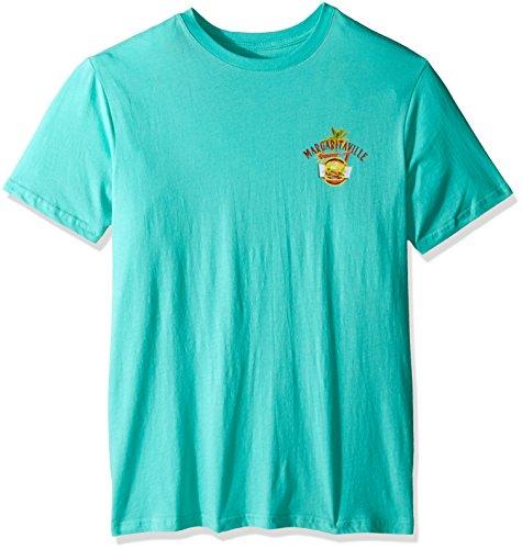 Margaritaville Men's S/s Cheeseburger in Paradise T-Shirt, Pool Blue, XX-Large (Margaritaville Shirt compare prices)