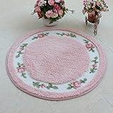 "Rustic Area Rugs Rural Carpet Roses for Sale Dinning Room Rug Bedroom Rug Floral Bath Rugs Bed Rug Cute Rug Kids Room Rugs Kids Area Rugs Round Rug Carpet for Kids Play Round 35"""