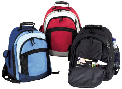 Black- School College Hiking Backpack Bag