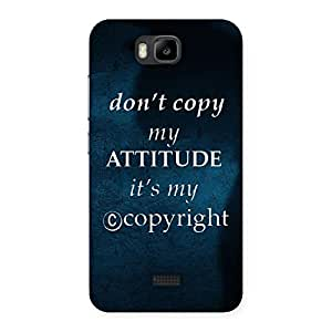 Attitude Back Case Cover for Honor Bee