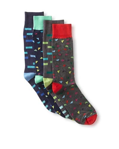 Unsimply Stitched Men's Combed Cotton Socks (4 Pairs)