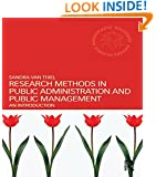 Research Methods in Public Administration and Public Management: An Introduction (Routledge Masters in Public Management)