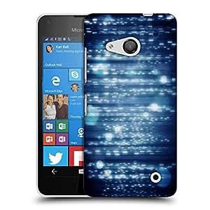 Snoogg Lite Blue Bubbles Designer Protective Phone Back Case Cover For Nokia Lumia 550