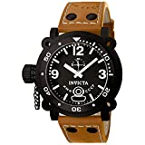 Invicta Men's Russian Diver Lefty Analogue Watch 7274 with IPB Case and Dial and Brown Strap