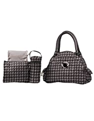 Kalencom Kalencom Bellisima Herringbone Continental Flair Bag Silver